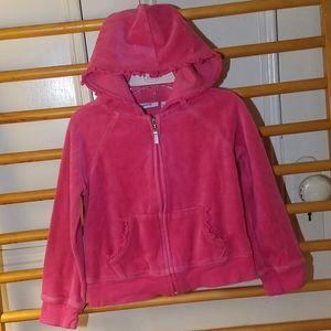 Greendog Girls 5 Velour Hooded Jacket - Pink Zip